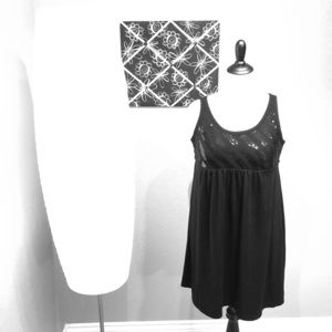 Black Sequined-Bodice Dress or Tunic